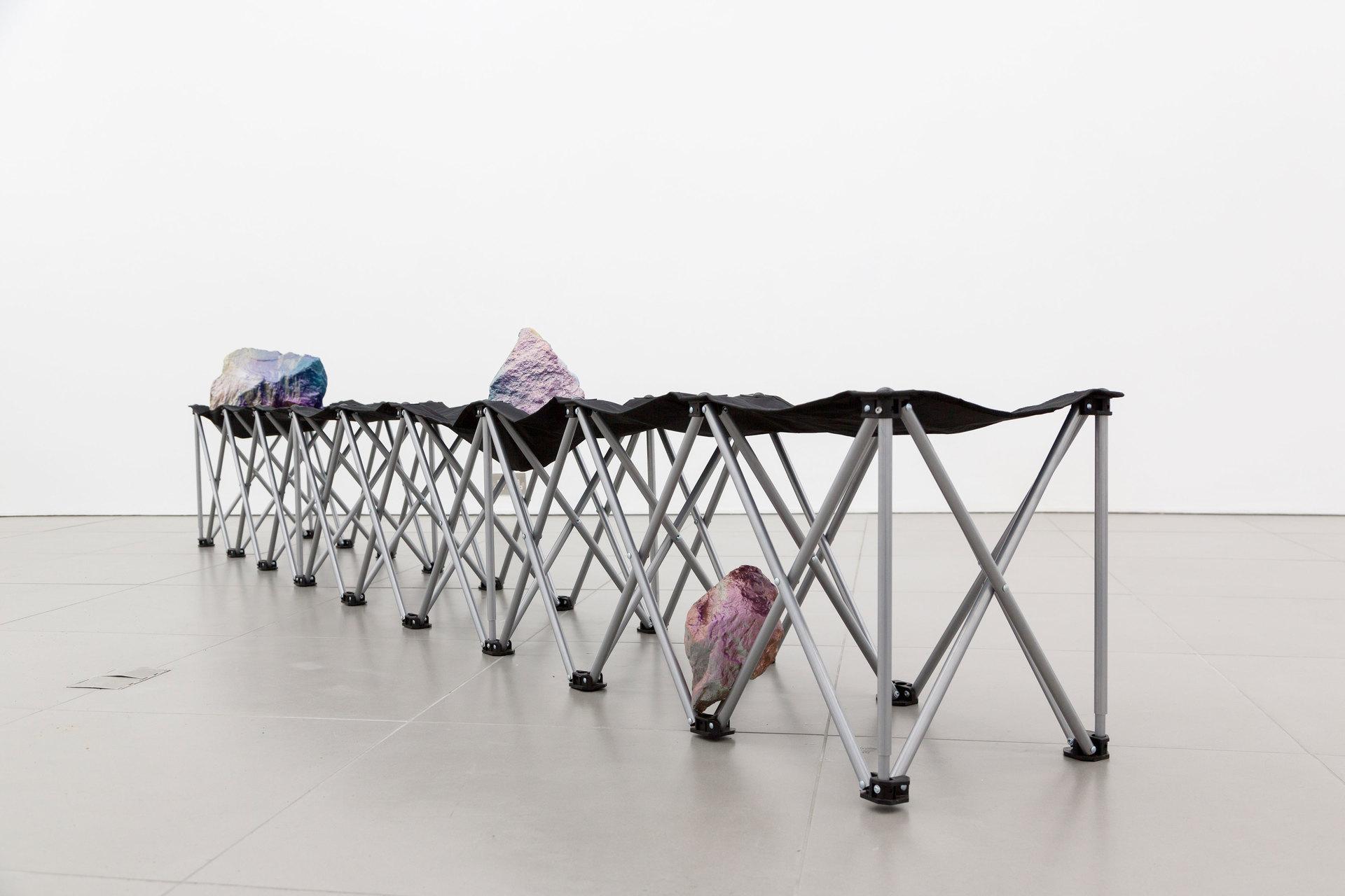 Santiago Taccetti, Reboot Horizon, 'Untitled (Chicago Boys I)', 2014,  enamel on stone, aluminium, steel, plastic, nylon, Cell Project Space