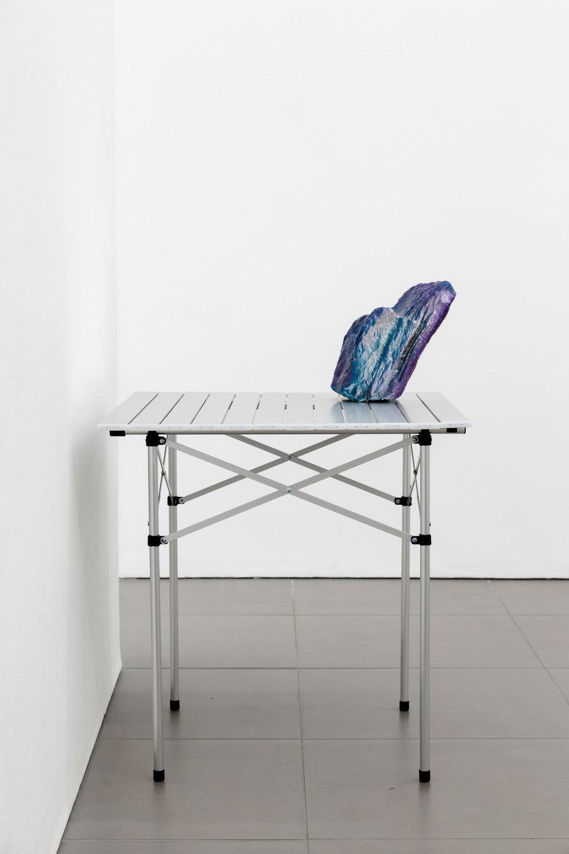 Santiago Taccetti, Reboot Horizon, 'Untitled (Chicago Boys 2)', 2014, enamel on stone, aluminium, steel, plastic, Cell Project Space