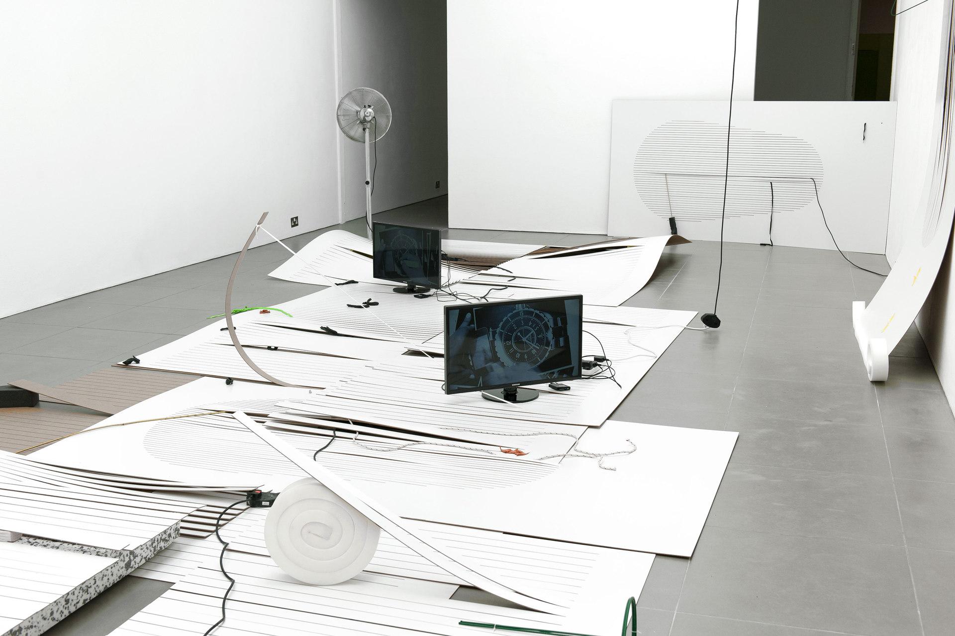 Beatriz Olabarrieta, Shifty-Show, mixed media installation, 2014, Cell Project Space