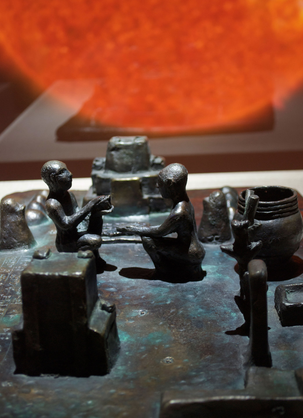 Mark Aerial Waller, Detail of 'Reconstruction of a 12th century BC Elamite antiquity, Sit Shamsi', 2012, bronze,(w. 53 cm x h. 12 cm x d. 35 cm) Cell Project Space