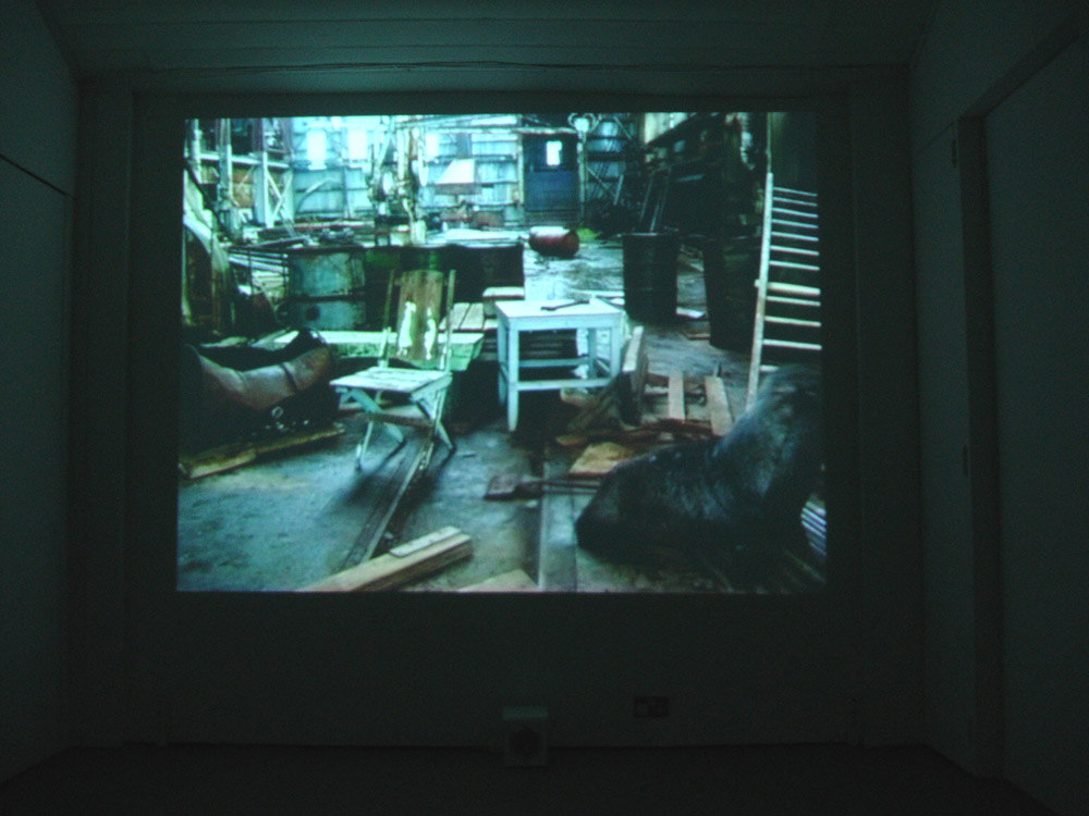 Simon Faithfull 'We climbed round a final ridge and saw a whaling-boat entering the bay 2500 ft, below. A few moments later we saw the sheds and factory of Stromness whaling-station. We paused and shook hands.' (E. Shackleton), 2005, digital video, 12 min