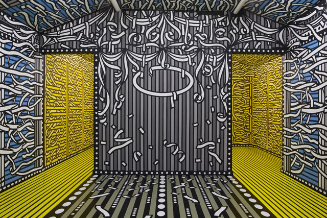 Tod Hanson, Parlour Collider, 2007,acrylic paint on mdf & hardboard, Cell Project Space