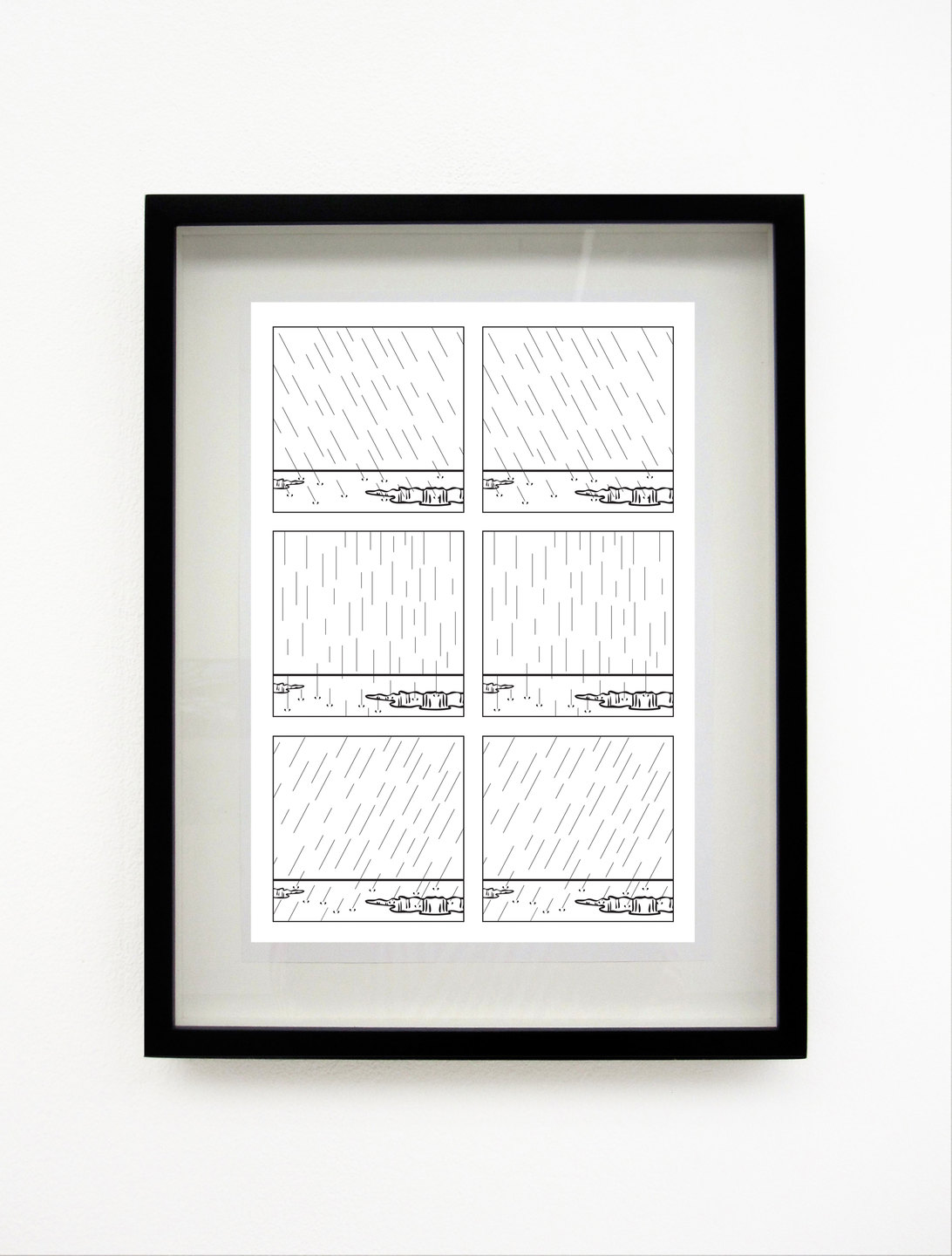Tom Godfrey, Untitled (Rain), 2011, Hand-printed lithograph, (29.7 x 21 cm), Ed 5 + 2AP, Cell Project Space