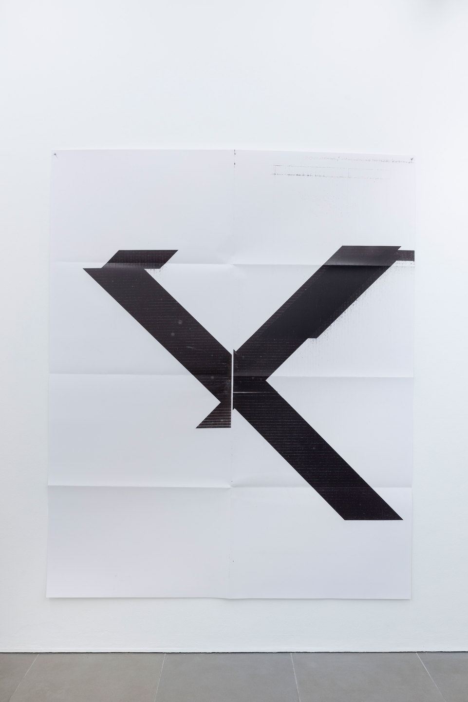 Wade Guyton Angled, 2013, Silk screen Print, 61 cm x 92 cm x 1.3 cm, Cell Project Space