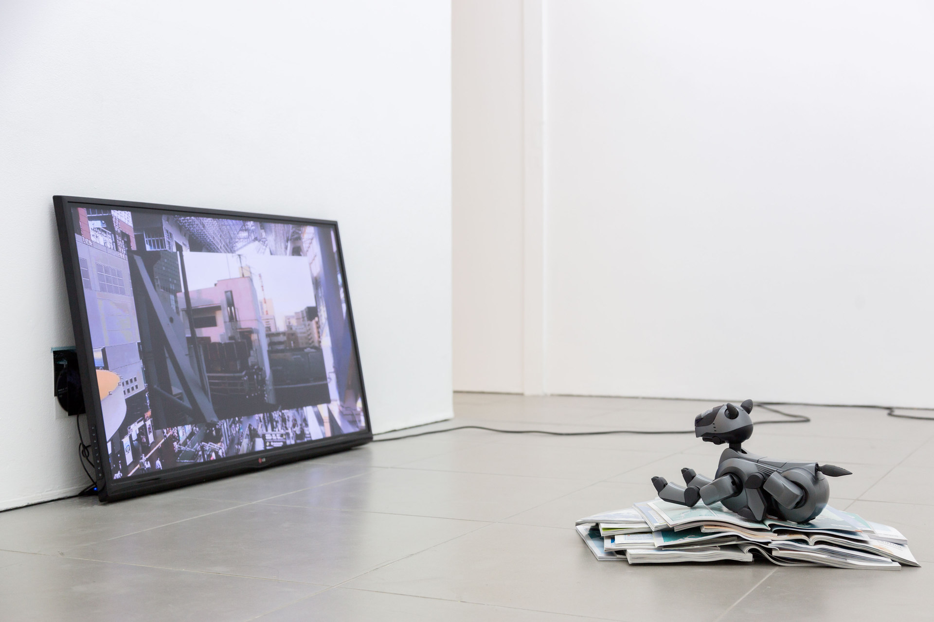 Yuri Pattison, Free Traveller, 'feel like you are actually there', 2014, 'Aibo Overcoming Modernity', 2014 (rear gallery), Cell Project Space