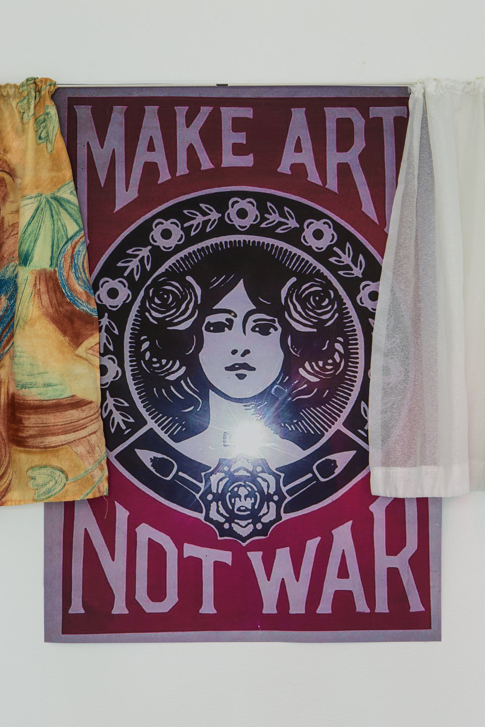Nancy Halt 'Make art not war, one to four' (Detail), 2018, No, No, No, No, 2018 Cell Project Space