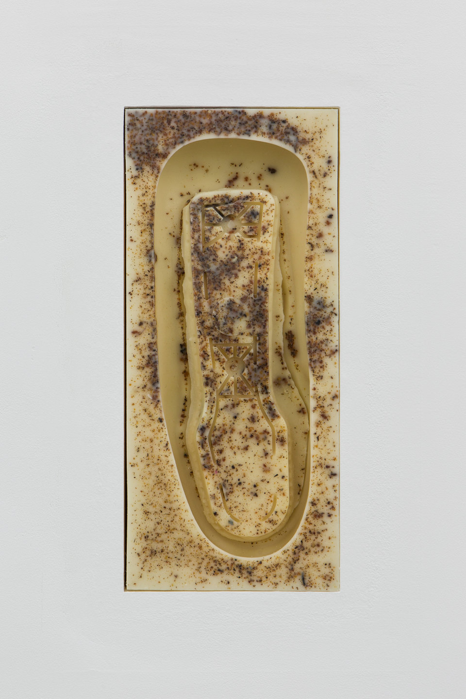 Patricia L. Boyd, 'Aeron Armrest I-XII', 2019, (Detail) Used restaurant grease, wax, damar resin 31.1 x 13.7cm each, Cell Project Space