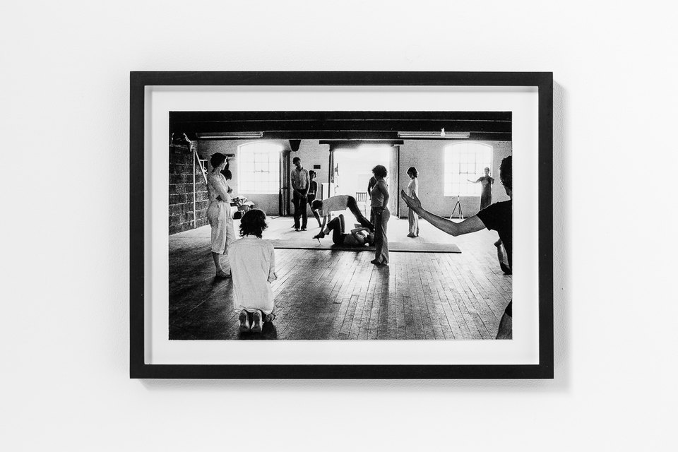 Workshop at X6 Dance Space, 1976, Framed c-print, photograph by Geoff White, 35.5cm x 26cm, X6 Dance Space (1976-80): Liberation Notes, 2020, Cell Project Space
