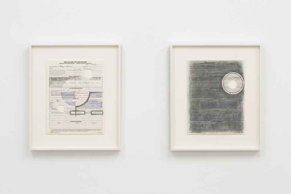 Adrian Piper, 'Vanishing Point #4' and 'Vanishing Point #5', 2009, Civic Duty, 2019, Cell Project Space
