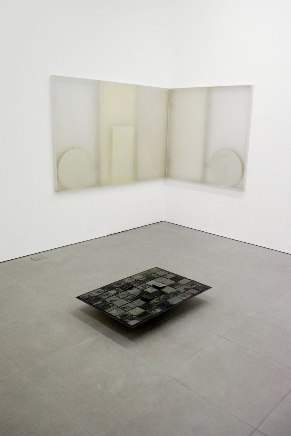 Adam Thompson, 'Untitled (Components & Variables)', 2010, Light deflector panels, mirrors, photographic plates, rubber sheet, Cell Project Space