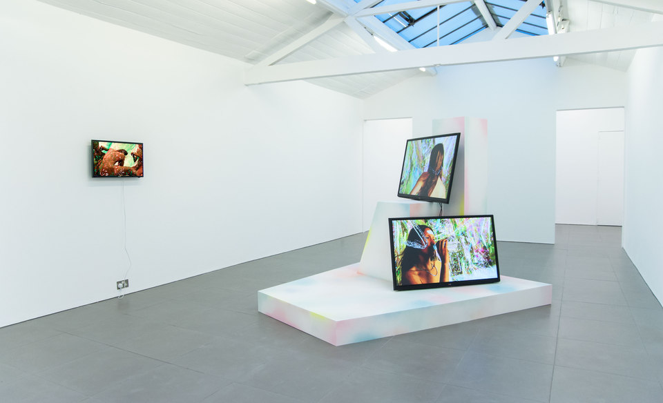 Adham Faramawy, HYDRA, Cell Project Space, 2014, left:Full Body Facial, 2014, video, duration: 5 minutes, 18 seconds