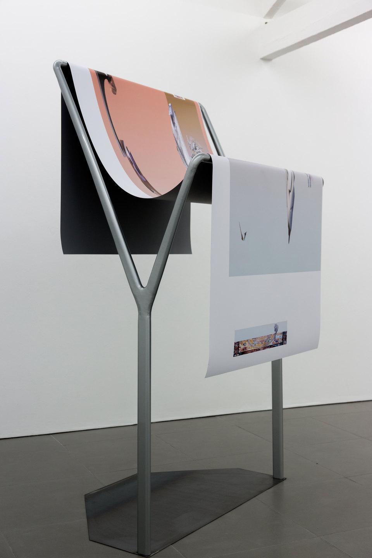 Alice Khalilova, Reboot Horizon, 'Siphonophore', 2014, steel, car paint, digital print on vinyl, Cell Project Space