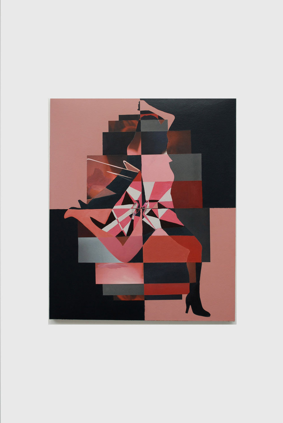 Andrew Child 'Untitled', 2008, acrylic and collage on canvas, 50 x 60 cm