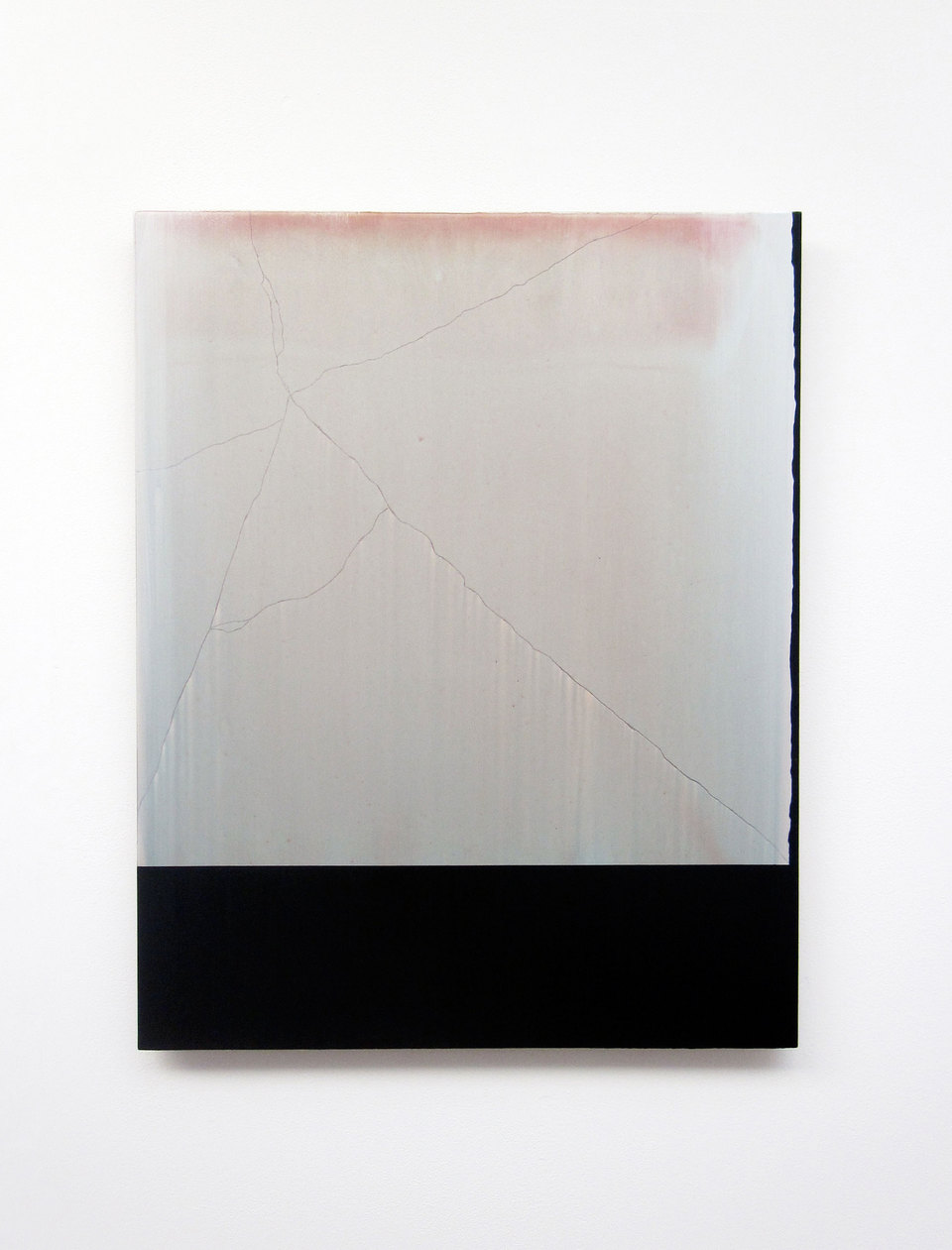 Andy Jackson, Tablet (A View from Sydenham Avenue), 2010, Acrylic and Metallic Acrylic on Board, (h.750mm x w.595mm), Cell Project Space