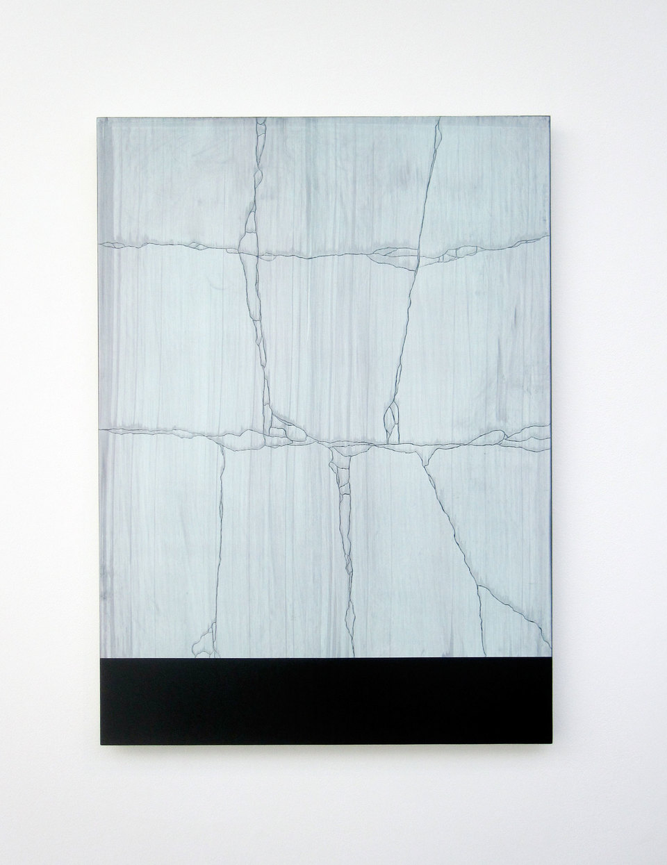 Andy Jackson, Tablet Tablet (A View from Peckham Rye), 2010, Acrylic and Metallic Acrylic on Board, (h.860mm x w.620mm), Cell Project Space