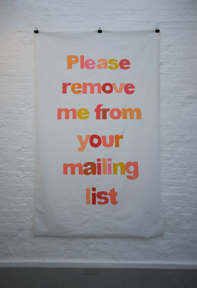 Annika Ström 'Please remove me from your mailing list/red', 2008, acrylic on canvas
