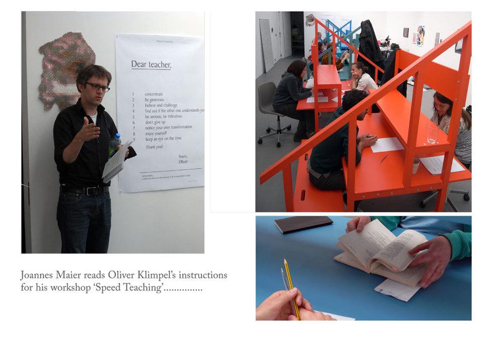 Oliver Klimpel's Speed Teaching at ARTSCHOOL/UK