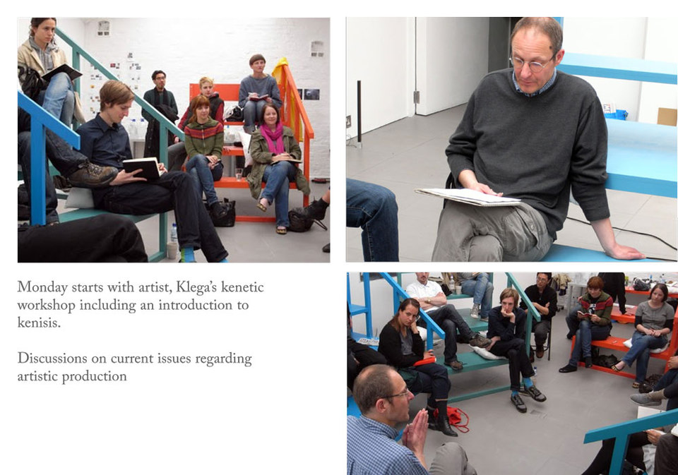 Klega's kenetic workshop at ARTSCHOOL/UK