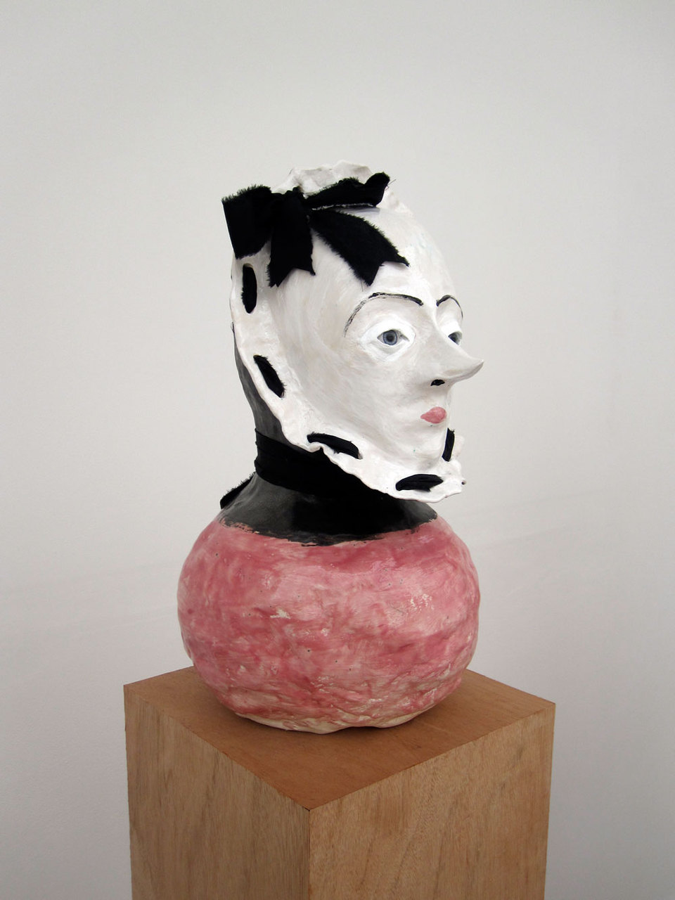 Jonathan Baldock, Dolly, 2009, Ceramic, cotton, glass eyes, clay, (h,1630mm x w.250mm x d.250mm), Cell Project Space