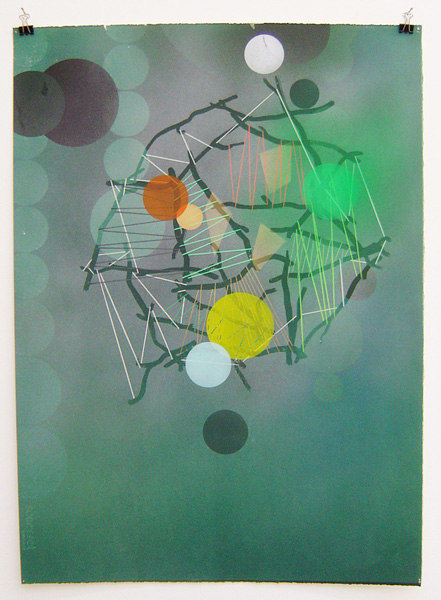 Bob Matthews 'Drawing for Cradle (7)', 2007, lithograph, acrylic, and pencil on paper