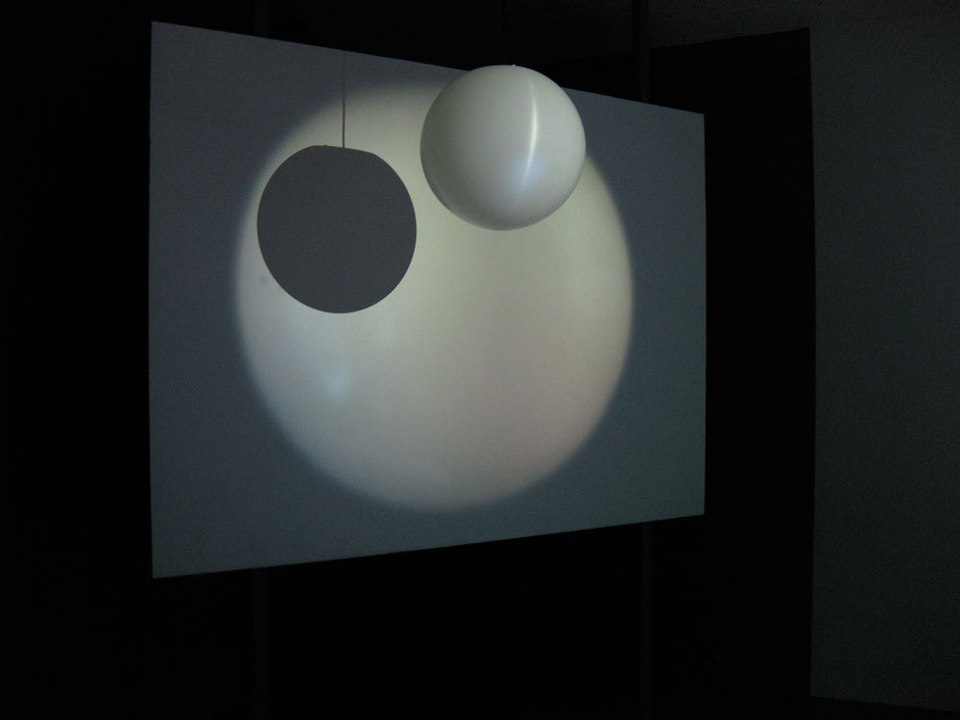 Kim Coleman & Jenny Hogarth 'Museum Light', 2008, looped digital film on dvd, globe pendant shape