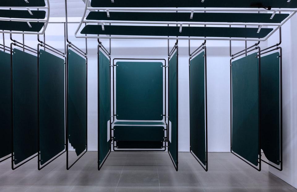 Dan Walwin, Winds 4, 2015 Mild steel powder coated, MDF, Cell Project Space