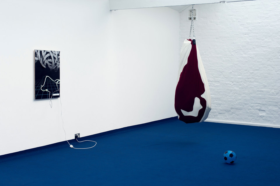 Florian Auer, BABIES ARE BORN AT NIGHT, 2013, installation view