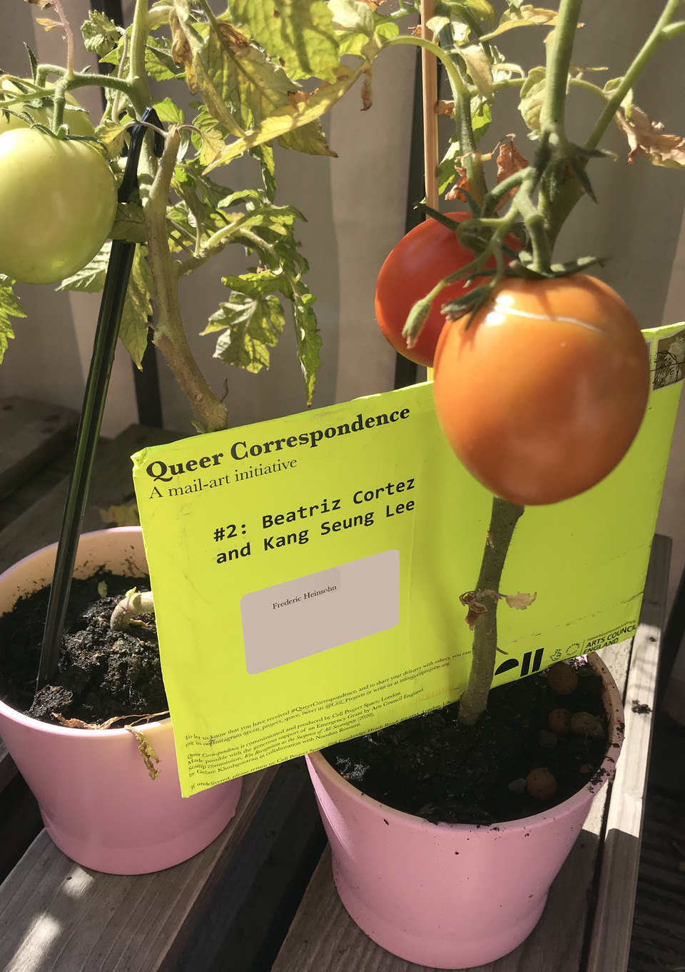 Beatriz Cortez & Kang Seung Lee, Queer Correspondence, 2020, Cell Project Space