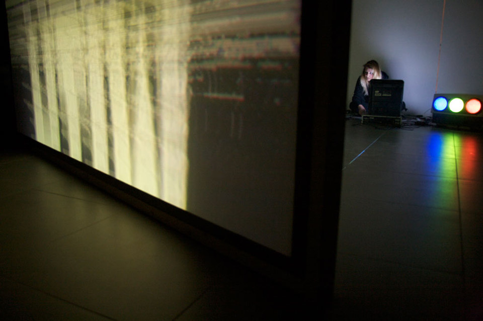 Hannah Perry performance, Cell Project Space, 2012, Hannah Perry & Hotel palenque