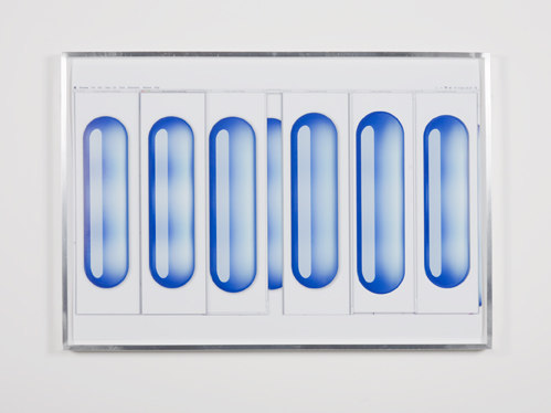 Anders Clausen, Bar Master 17 2010, anodised aluminium frame, (35.5 x 51 cms / 14 x 20 1/8 ins), Cell Project Space
