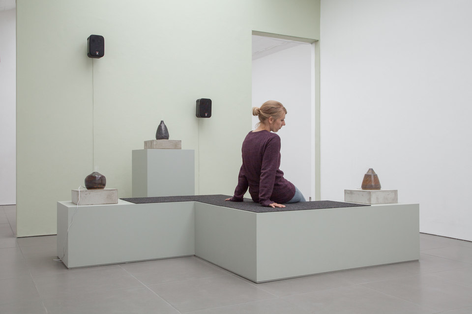 Ian Giles, Hazey, 2015, Ceramic  Diffuser, MDF, Audio, Cell Project Space