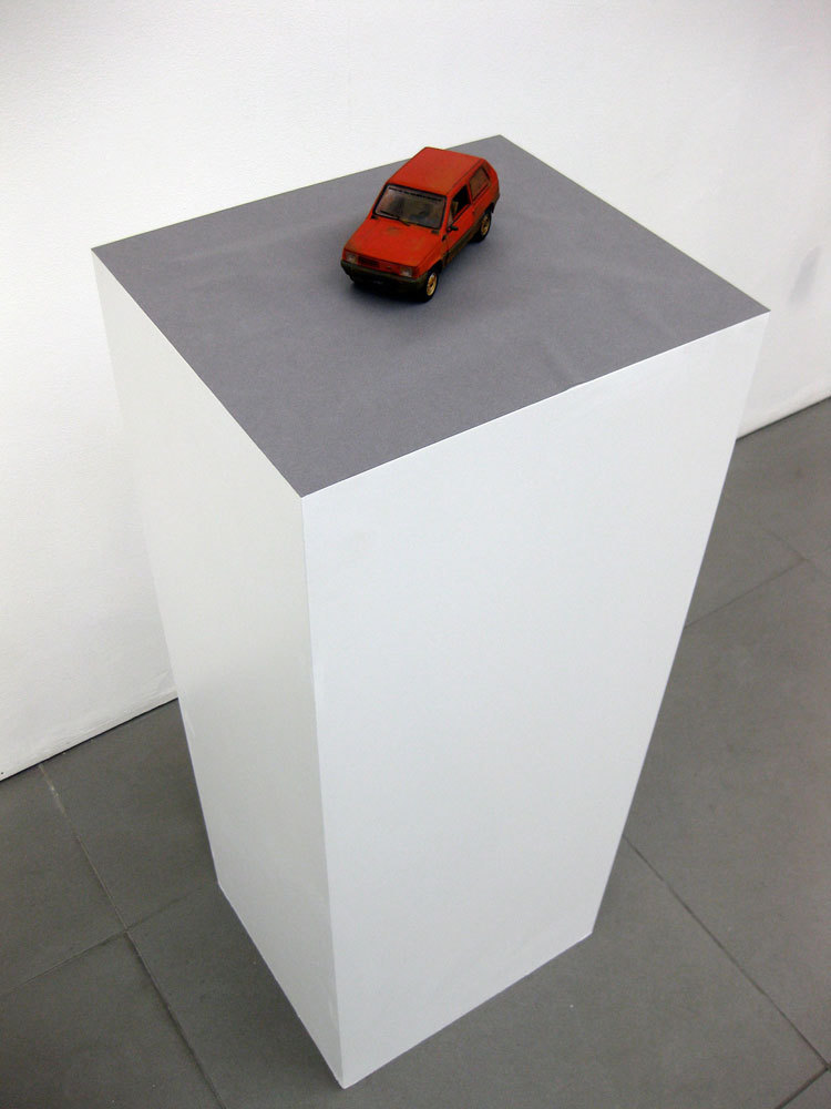 Ian Brown 'Eventually I will rust and die/before I go I will take some of you with me (Fiat Panda, model)', 2009, plastic, enamel paint, varnish, stickers