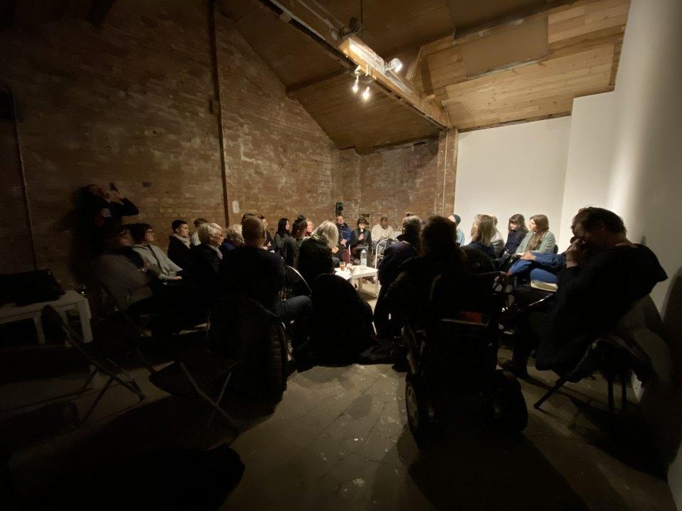 Round table discussion with 'Funmi Adewole, Emilyn Claid, Fergus Early, Jamila Johnson-Small, Jacky Lansley and Mary Prestidge