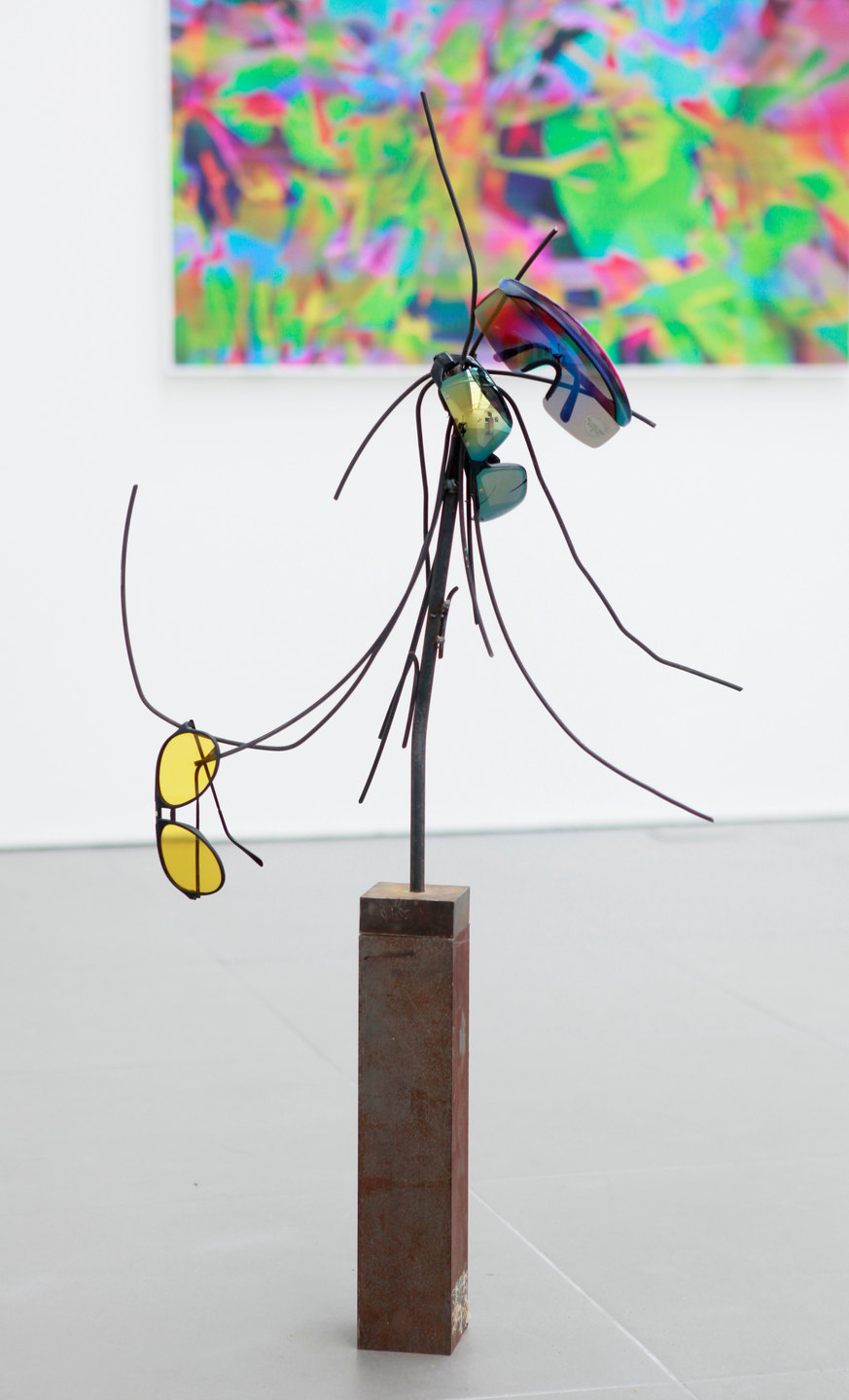 Jack Lavender, Chimera Q.T.E., 'Glasses Tree', sunglasses, steel, 2012, Cell Project Space