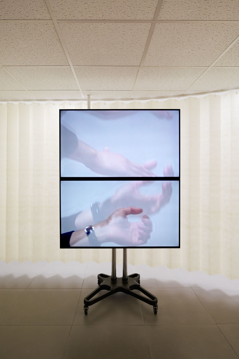 Josh Bitelli, A Partition, 'All Doors and No Exits', two channel 4K digital video, surround sound, mixed media, 2016, Cell Project Space