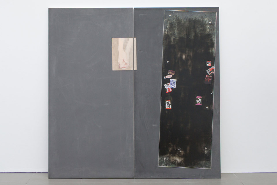 Kate Mackeson & Henrik Potter, 'landlords are not currently collecting rent in self-love', Henrik Potter, The Lovers / Another World & The Lovers / Much More Clear (Steel Pulse), 2016, Cell Project Space