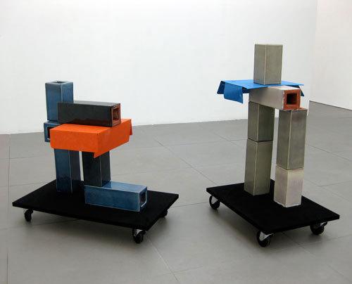 Lieke Snellen 'No. 5 2009' Ceramic, MDF, Viynl, Castors, card