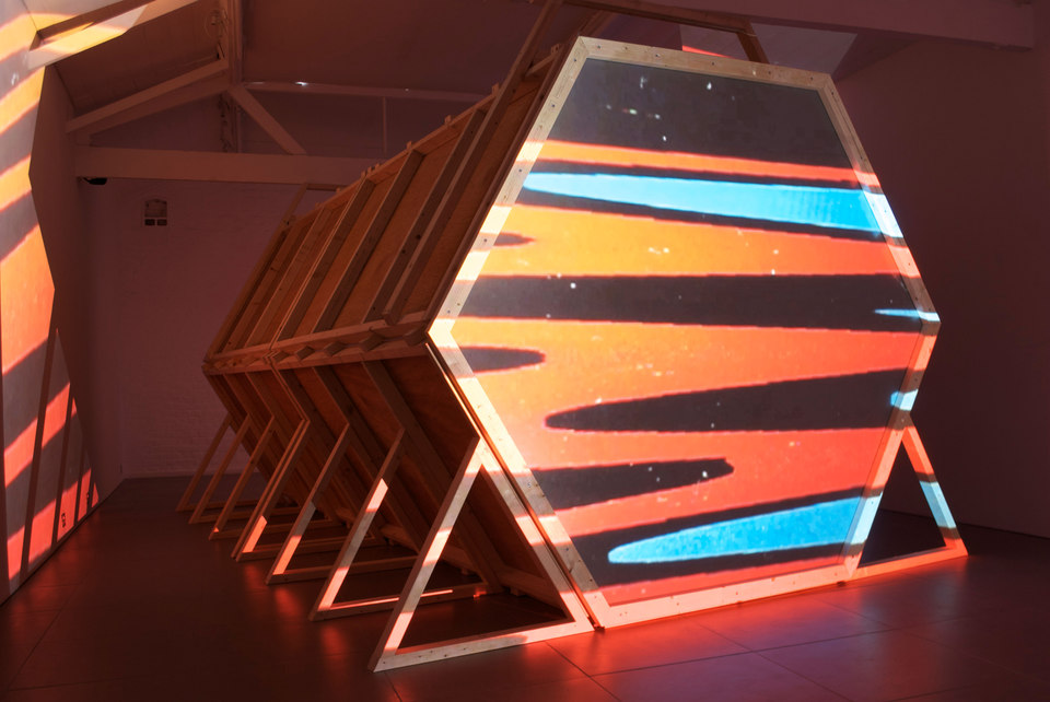 Laura Buckley, Fata Morgana, 2012, mixed media with 1/3 edition digital video, projection, duration 8:18 min, (l. 480 x w. 290 x h. 242 cm), Cell Project Space