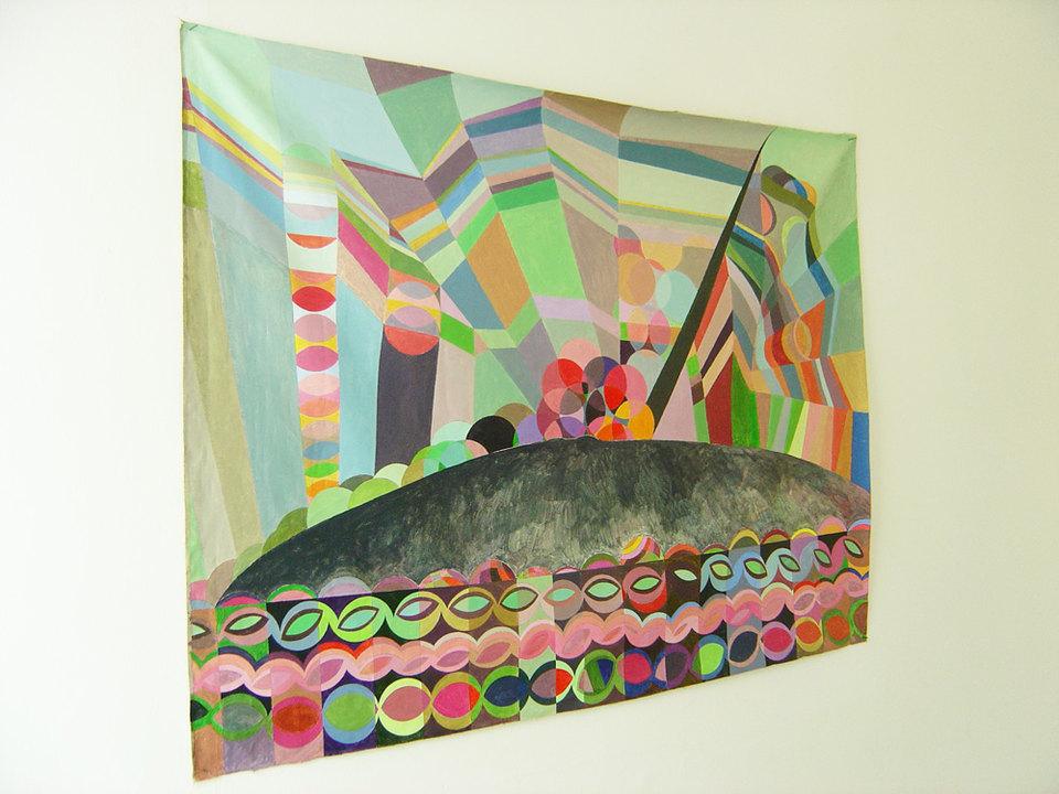Martina Schmid 'Keep on walking', 2005, acrylic on canvas