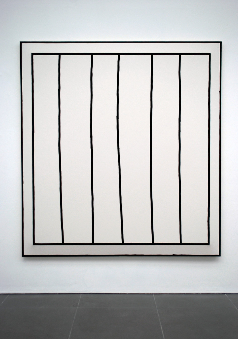 'ACCORDION', Oliver Perkins, 2011, Oil and Ink on Calico over doubled stretcher, 177X165cm outside stretcher/155X145cm inside stretcher, Cell Project Space