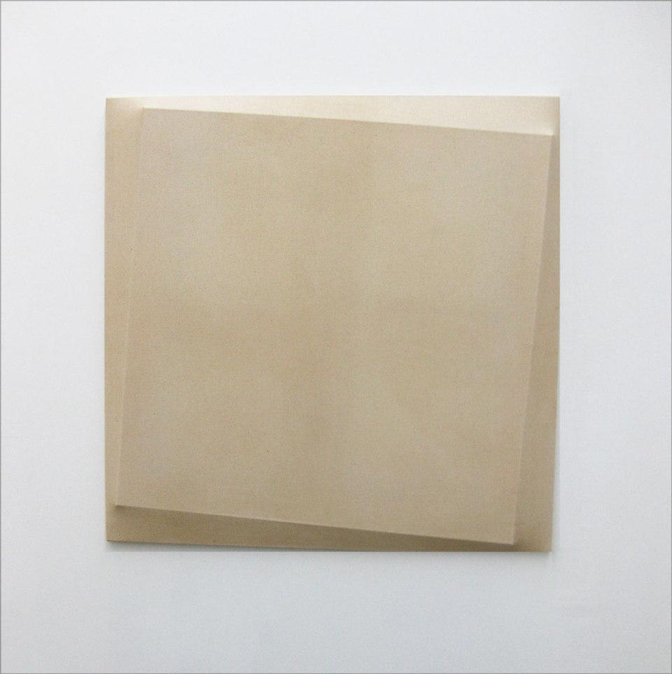Oliver Perkins, Untitled/ Implant/ WH SQ, 2009, Acrylic, canvas, (h.80cm x w.80cm x d.4.5cm)