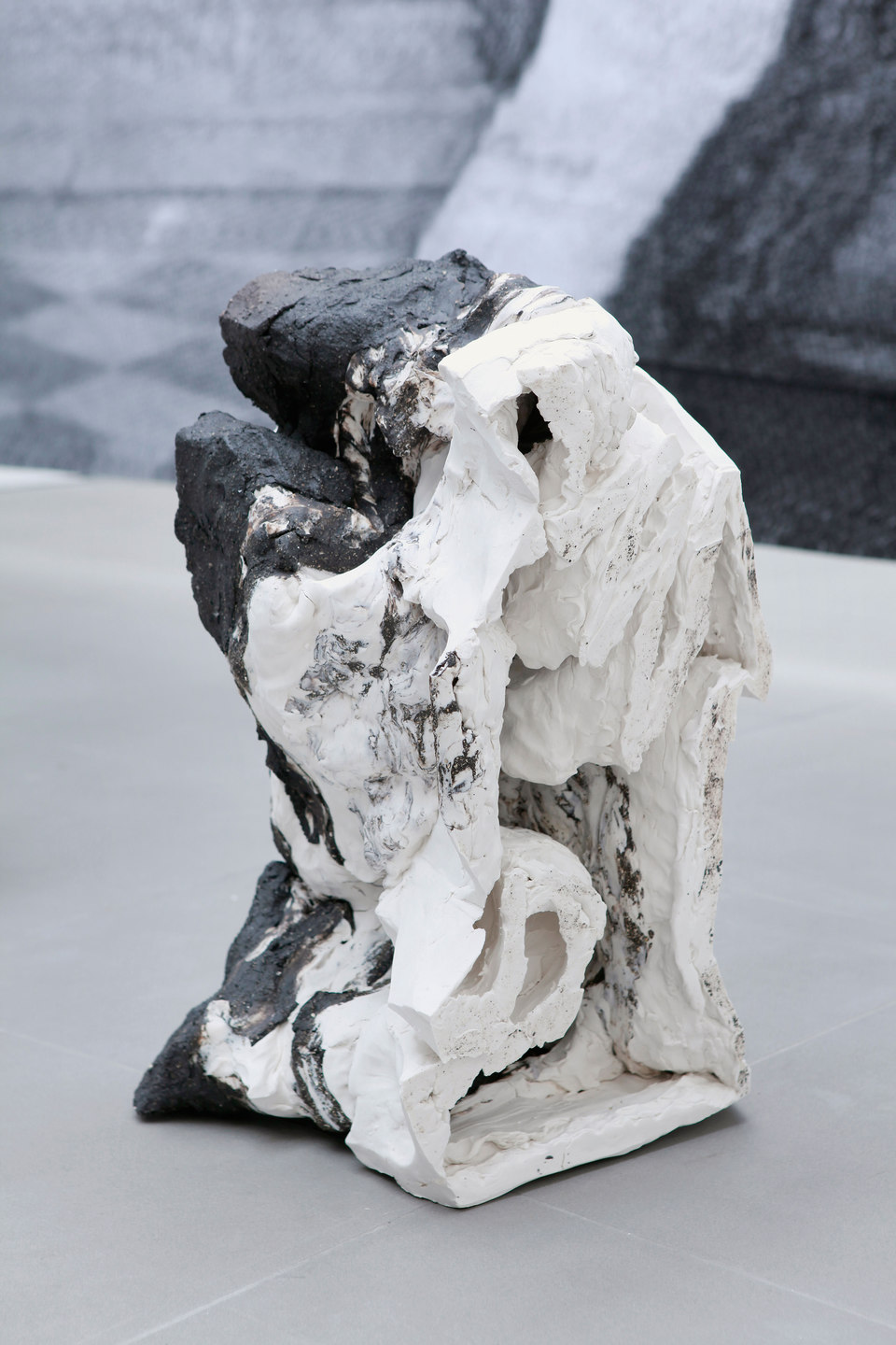 Peles Empire, Formation, 'formation 3', 2013, unglazed porcelain with black grog, h. 25 x w. 50 x d. 33 cm, Cell Project Space