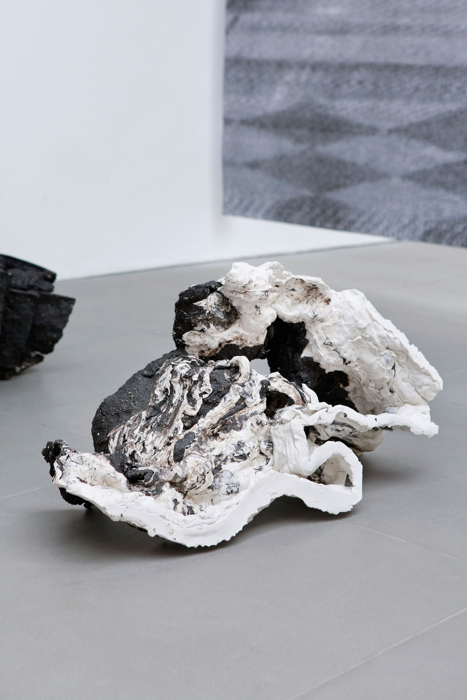 Peles Empire, Formation, 'formation 5', 2013, unglazed porcelain with black grog, h. 60 x w. 29 x d. 32 cm, Cell Project Space