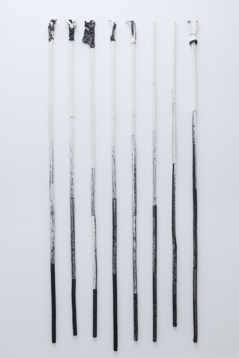 Peles Empire, Formation, 'formation 10', 2013, unglazed porcelain with black grog, h. 220 x w. 100 cm, Cell Project Space