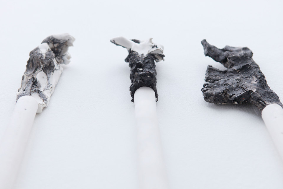 Peles Empire, Formation, 'formation 9' [detail], 2013, unglazed porcelain with black grog, Cell Project Space