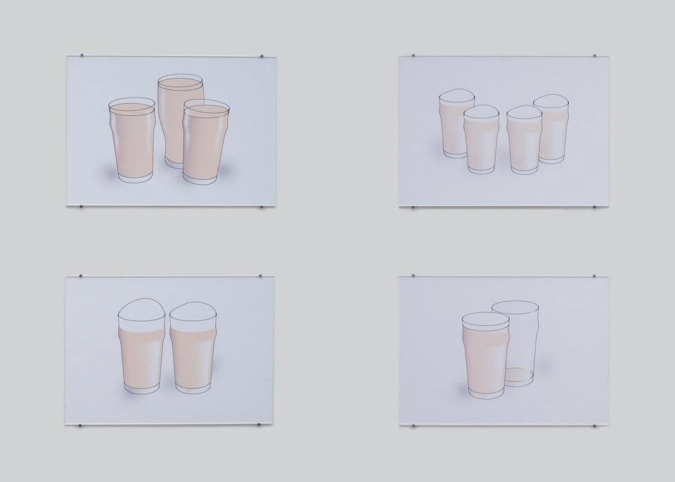Rachel Reupke, Nonic, 2013, inkjet on paper, acrylic perspex, card, mountboard, nails, w. 779 cm x w. 73.8 cm