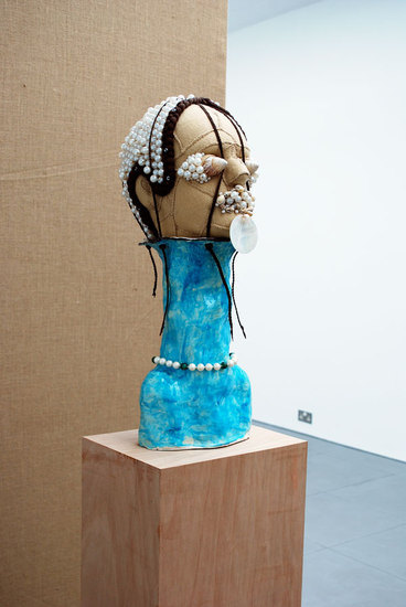 Jonathan Baldock, Regality (The Seaside), 2010, felt, ceramic, thread, fake pearls, foam, shells, synthetic hair, (h.1820mm x w.230mm x d.300mm), Cell Project Space