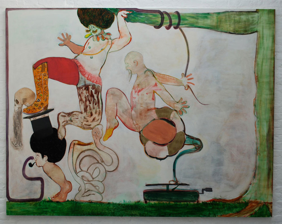 Ryan Mosley 'Tag Team', 2008, 275 x 215 cm, oil on canvas
