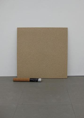 Stefano Calligaro, Untitled Roll 2009, Chip board, cork, Viynl, magazine page, (h.84cm x w. 87cm x 29cm)