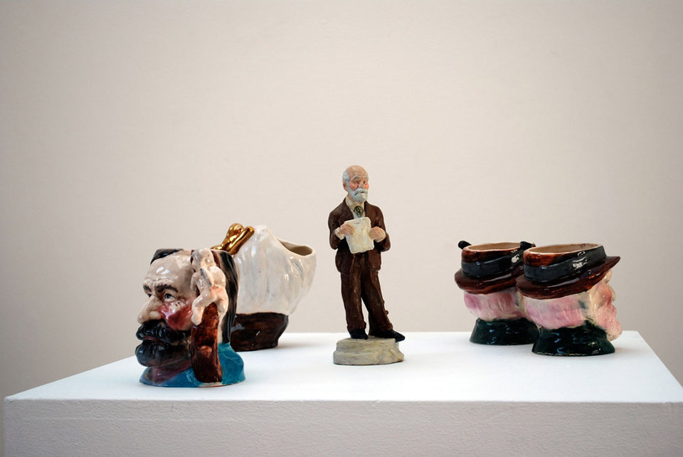 Sam Plagerson 'Smoking is indispensable if one has nothing to kiss', 2007, ceramic and mixed media, size varaible